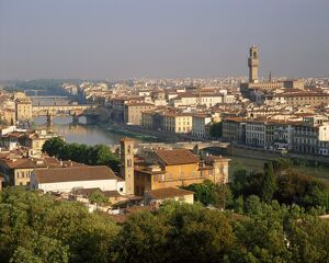 View from the Piazzale Michelangelo over the city and
