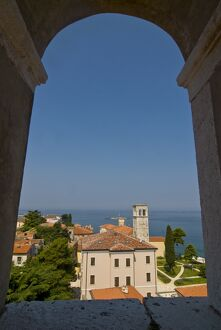 View over Porec from the 6th century Euphrasian Basilica, UNESCO World Heritage Site