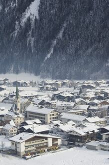 Village of Mayrhofen ski resort, Zillertal Valley, Austrian Tyrol, Austria, Europe