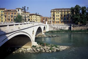 Vittoria Bridge and River Adige
