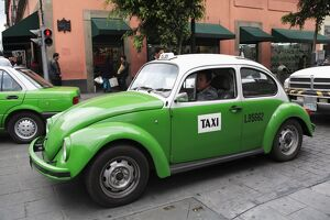 Volkswagen taxi cab, Mexico City, Mexico, North America