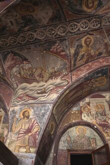 Wall frescoes, Monastery of St. John, Hora, Patmos, Dodecanese, Greek Islands