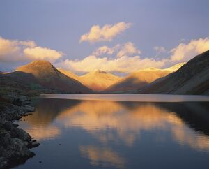 Wasdale Head and Great Gable reflected in Wastwater, Lake District National Park