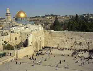 western wailing wall sacred site judaism gold