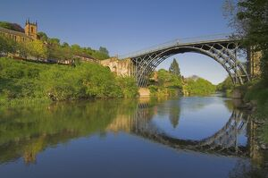 The world's first Ironbridge built by Abraham Darby over the River Severn at Ironbridge Gorge