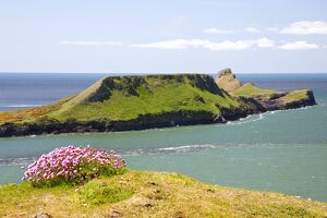 Worms Head, Rhossili Bay, Gower Peninsula, Wales, United Kingdom, Europe