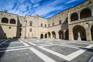 Yard in the Palace of the Grand Master, the Medieval Old Town of the City of Rhodes