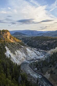 Yellowstone River near Calcite Springs, Yellowstone National Park, UNESCO World Heritage Site