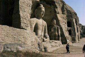 Yungang Buddhist caves, UNESCO World Heritage Site, Datong, Shanxi, China, Asia
