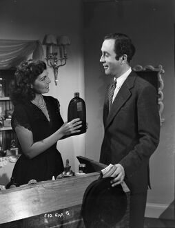 Anne Vernon and Dennis Price in John Guillermin's Song of Paris (1952)