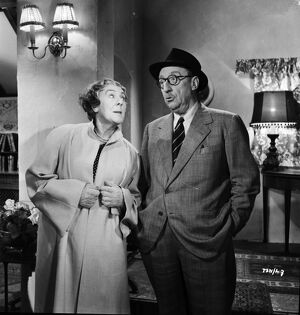 Cicely Courtneidge and Joss Ambler in Leslie Arliss' Miss Tulip Stays The Night (1955)