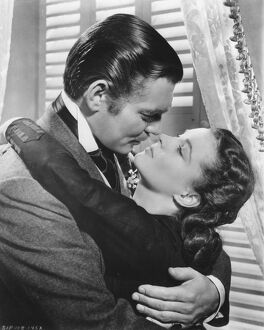 Clark Gable and Vivien Leigh in Victor Fleming's Gone With The Wid (1939)