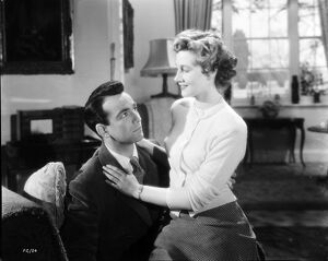 Dermot Walsh and Rona Anderson in John Guillermin's Torment (1949)