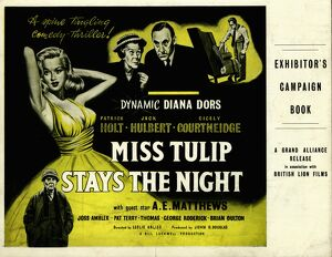 Exhibitor's Campaign Book Cover for Leslie Arliss' Miss Tulip Stays The Night