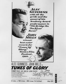 Film Poster for Ronald Neame's Tunes of Glory (1960)