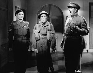Michael Kelly, Tommy Trinder, and RSM Brittain in Maurice Elvey's You Lucky People