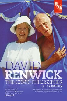 Poster for David Renwick The Comic Philosopher Season at BFI Southbank (5 - 27 January