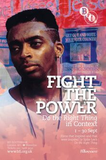 Poster for Fight The Power Season at BFI Southbank (1 - 30 September 2009)