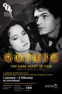 Poster for Gothic The Dark Heart Of Film Poster at BFI Southbank (1 January - 6 February