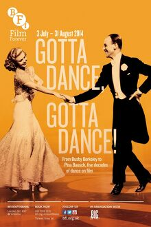 Poster for Gotta Dance, Gotta Dance Season at BFI Southbank (3 July - 31 August 2014)