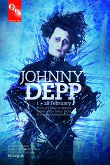 Poster for Johnny Depp Season at BFI Southbank (1 - 28 February 2010)