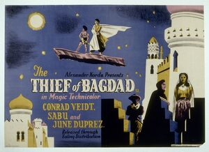 Poster for Ludwig Berger's The Thief of Bagdad (1940)