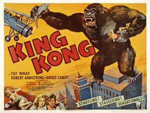 Poster for Merian C Cooper's King Kong (1933)