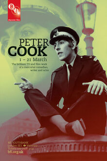 Poster for Peter Cook Season at BFI Southbank (1 - 21 March 2012)