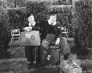 Stan Laurel and Oliver Hardy in Alfred Goulding's A Chump at Oxford (1939)