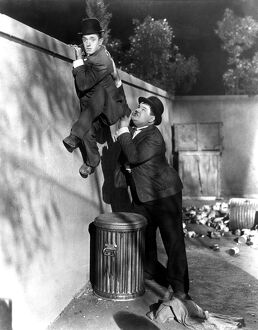 Stan Laurel and Oliver Hardy in James Parrott's Night Owls (1930)