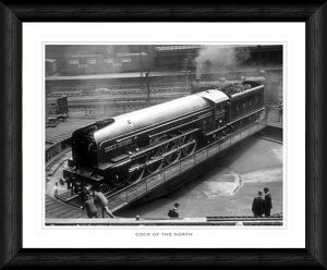 Cock of the North on Turntable Framed Print
