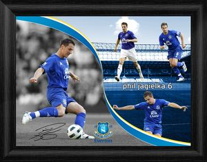 Everton FC - Phil Jagielka Framed Montage