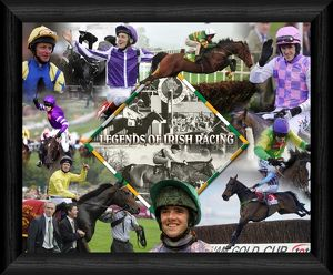 Legends Of Irish Racing 20x16 Inch Framed Print