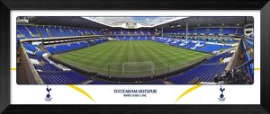 Tottenham Hotspur FC White Hart Lane Empty Day Behind Goal Framed Panoramic Print