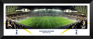 Tottenham Hotspur FC White Hart Lane Match Night Halfway Framed Panoramic Print