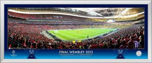 UEFA Champions League 2013 Corner Match from Bayern Panoramic
