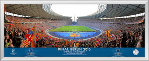 UEFA Champions League 2015 Final Behind Goal Framed Panoramic