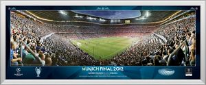 UEFA Champions League Final 2012 at Munich Corner Match Framed Desktop Panoramic