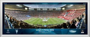 UEFA Champions League Final 2012 at Munich Line Up Framed Desktop Panoramic