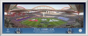 UEFA Champions League Final 2014 Line Up Framed Desktop Panoramic