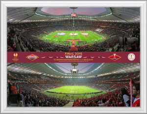 UEFA Europa League 2015 Final Framed Panoramic Montage