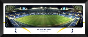 White Hart Lane Empty Night Halfway Framed Panoramic Print