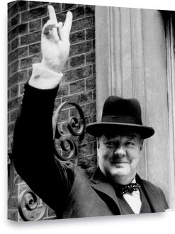 history/winston churchill victory sign 20x16 508x406mm