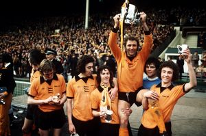 League Cup FInal, Wolves vs Manchester City, winning team celebrate