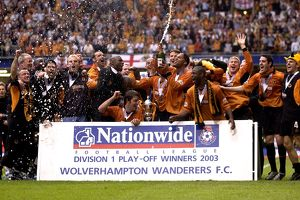 Wolves vs Sheffield United, Play Off Final, Squad Celebrate Victory