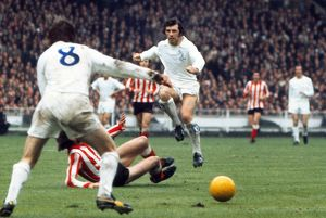 Johnny Giles during the 1973 FA Cup Final