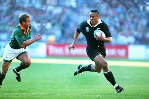 All Black Jonah Lomu during the 1995 Rugby World Cup Final