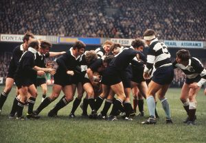 The All Blacks forwards maul the ball against the Barbarians in 1973