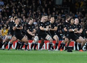 The All Blacks do the Haka at the 2011 Rugby World Cup