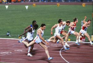 Allan Wells wins 100m gold at the 1980 Moscow Olympics